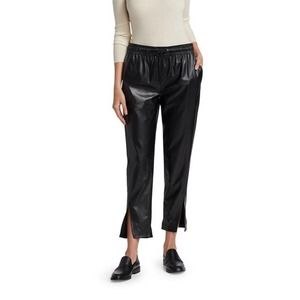 NWT Theory Slit Detail Joggers Faux Leather